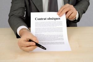 Signature du contrat obsques